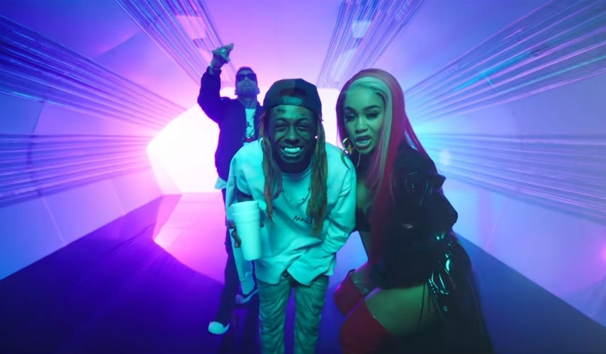 Лил Уэйн, Saweetie, Kid Ink​Фото: кадр из видео