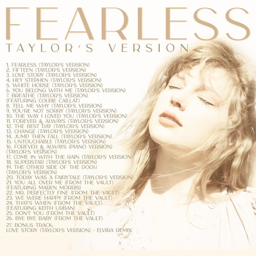 Треклист «Fearless (Taylor's Version)»